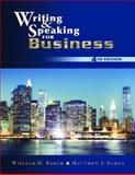 Writing and Speaking for Business 4th Edition