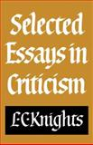 Selected Essays in Criticism 9780521280839