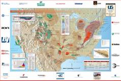 2010 U. S. Shales Resources Wall Map 9780984270859