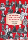 Dictionary of Canadian Biography, 1921-1930 9780802090874