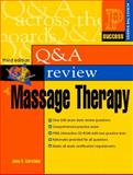 Question and Answer Review of Massage Therapy 9780130490988