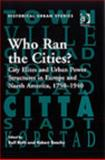 Who Ran the Cities? 9780754651536