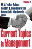 Current Topics in Management 9780765801548