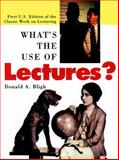 What's the Use of Lectures? 9780787951627