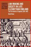 Law-Making and Society in Late Elizabethan England 9780521521857