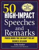 50 High-Impact Speeches and Remarks 9780071421942