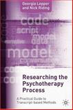 Researching the Psychotherapy Process 9781403922069