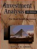 Investment Analysis for Real Estate Decisions 9780793122264