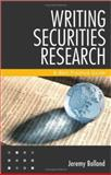 Writing Securities Research 9780470822265