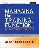 Managing the Training Function for Bottom-Line Results