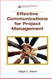 Effective Communications for Project Management 9781420062465