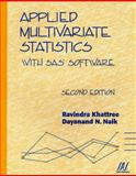 Applied Multivariate Statistics with SAS Software 9780471322993