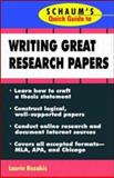 Schaum's Quick Guide to Writing Great Research Papers 9780070123007