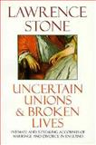 Uncertain Unions and Broken Lives 9780192853080