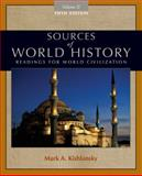 Sources of World History, Volume II 9780495913184