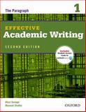 Effective Academic Writing 2e Student Book 1 Pack 2nd Edition