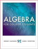 Algebra for College Students 9780538733540
