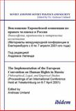 The Implementation of the European Convention on Human Rights in Russia. Philosophical, Legal, and Empirical Studies 9783898213875