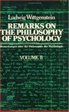 Remarks on the Philosophy of Psychology 9780226904337