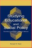 Studying Educational and Social Policy 9780805844603