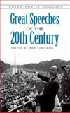 Great Speeches of the 20th Century 9780486474670