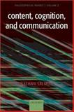 Content, Cognition, and Communication 9780199284726