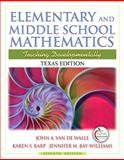Texas Edition of Elementary and Middle School Mathematics 7th Edition