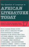 Question of Language in African Literature Today 9780852555170