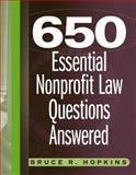 650 Essential Nonprofit Law Questions Answered 9780471715245
