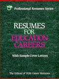 Resumes for Education Careers 9780844285436