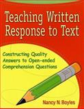 Teaching Written Response to Text 9780929895505