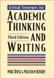 Critical Strategies for Academic Thinking and Writing 9780312115616