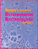 Bergey's Manual of Determinative Bacteriology 9th Edition