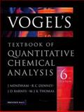 Vogel's Quantitative Chemical Analysis 9780582226289