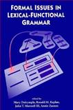 Formal Issues in Lexical-Functional Grammar 9781881526360