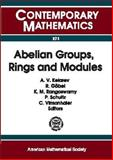 Abelian Groups, Rings and Modules 9780821827512