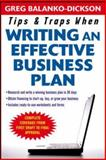 Tips and Traps for Writing an Effective Business Plan 9780071467513