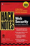 HackNotes Web Security Pocket Reference 9780072227840