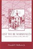 Lest We Be Marshall'd 9781931968010