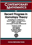 Recent Progress in Homotopy Theory 9780821828014