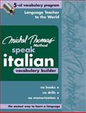 Michel Thomas Method Speak Italian Vocabulary Builder 9780071488174