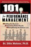 101 Leadership Actions for Performance Management 9780874258356