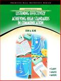 Listening Effectively Achieving High Standards in Communication