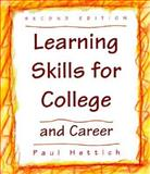 Learning Skills for College and Career 9780534348786