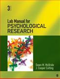 Lab Manual for Psychological Research 3rd Edition
