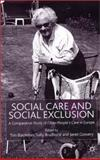 Social Care and Social Exclusion 9780333919644