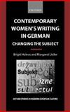 Contemporary Women's Writing in German 9780198159674